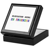Elevator Girl In Training Keepsake Box