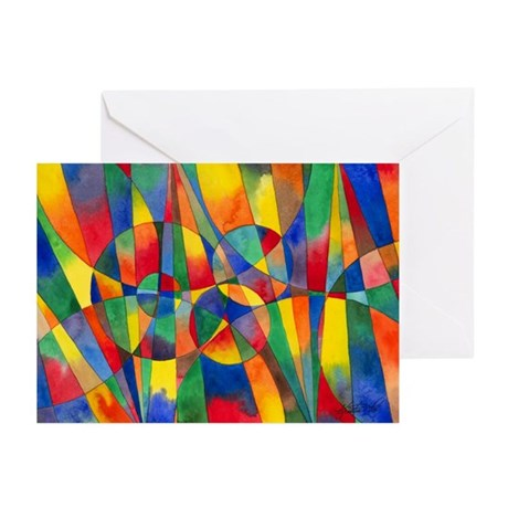 Color Shards Greeting Cards (Pk of 10)