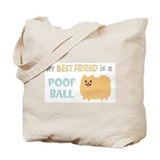 Pomeranian Poof Ball Tote Bag