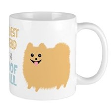 Pomeranian Poof Ball Small Mugs