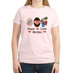 Peace Love Movies Women's Light T-Shirt