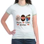 Peace Love Movies Jr. Ringer T-Shirt