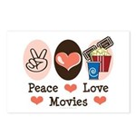 Peace Love Movies Postcards (Package of 8)