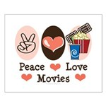 Peace Love Movies Small Poster