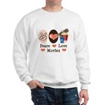Peace Love Movies Sweatshirt