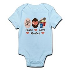Peace Love Movies Infant Bodysuit