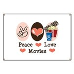 Peace Love Movies Banner