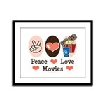 Peace Love Movies Framed Panel Print