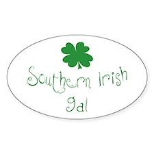 Southern Irish Gal Oval Decal