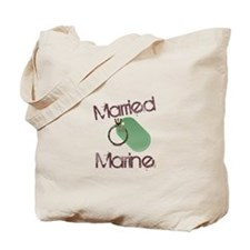 Married to a Marine Tote Bag