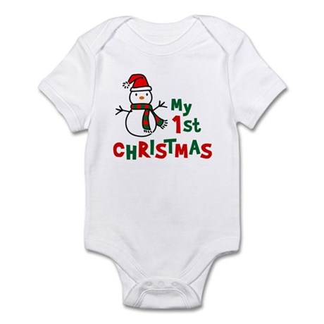 My 1st Christmas - Snowman Infant Bodysuit