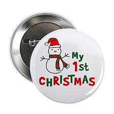 "My 1st Christmas - Snowman 2.25"" Button"