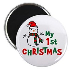 """My 1st Christmas - Snowman 2.25"""" Magnet (10 pack)"""