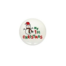 My 1st Christmas - Snowman Mini Button (100 pack)