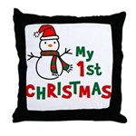 My 1st Christmas - Snowman Throw Pillow