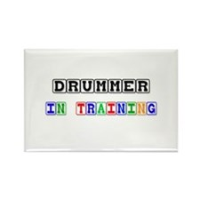Drummer In Training Rectangle Magnet