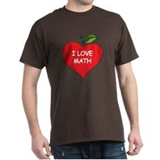 Heart Apple I Love Math T-Shirt