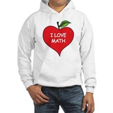 Heart Apple I Love Math Hoodie