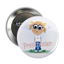 "Preschool Girl (bl) 2.25"" Button (100 pack)"