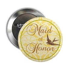"Bird Maid of Honor 2.25"" Button"