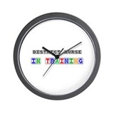 District Nurse In Training Wall Clock