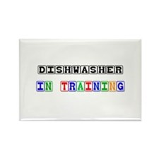 Dishwasher In Training Rectangle Magnet (10 pack)