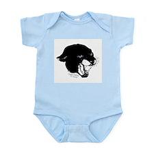Black Panther Vintage Tattoo Infant Bodysuit