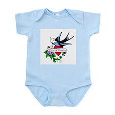 Mommy's Heart Dove Tattoo Infant Bodysuit