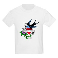 Mommy's Heart Dove Tattoo T-Shirt