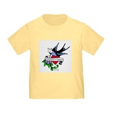 Mommy's Heart Dove Tattoo T