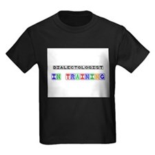 Dialectologist In Training Kids Dark T-Shirt