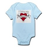 Mommy Heart Tattoo Infant Bodysuit