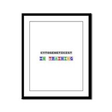 Cytogeneticist In Training Framed Panel Print