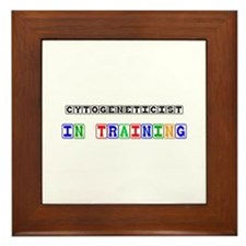 Cytogeneticist In Training Framed Tile