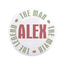"Alex Man Myth Legend 3.5"" Button (100 pack)"