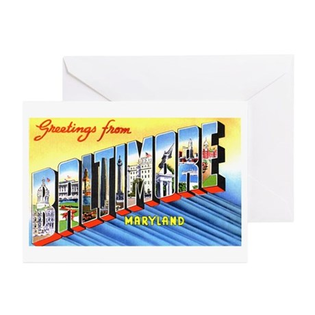 Baltimore Maryland Greetings Greeting Cards (Pk of