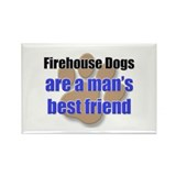 Firehouse Dogs man's best friend Rectangle Magnet