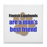 Finnish Lapphunds man's best friend Tile Coaster