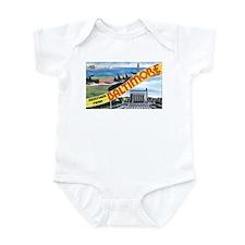 Baltimore Maryland Greetings Infant Bodysuit