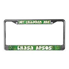 My Children Lhasa Apso License Plate Frame