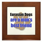 Eurasian Dogs man's best friend Framed Tile