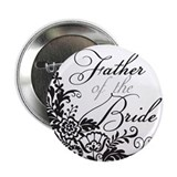 "Elegant Floral Father of the Bride 2.25"" Button"