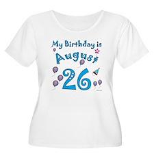 August 26th Birthday T-Shirt