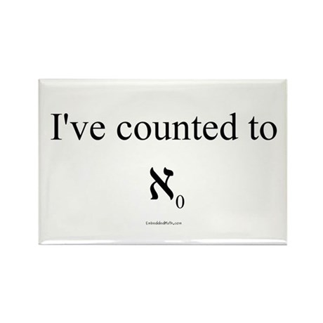 I've counted to aleph naught - Rectangle Magnet (1