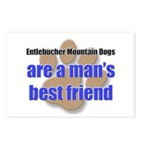 Entlebucher Mountain Dogs man's best friend Postca