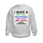 MR. RIGHT Kids Sweatshirt