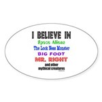 MR. RIGHT Oval Sticker (10 pk)