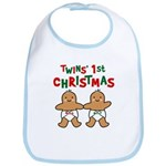 Twins' 1st Christmas Bib