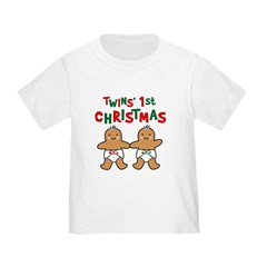 Twins' 1st Christmas Toddler T-Shirt