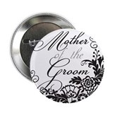 "Elegant Floral Mother of the 2.25"" Button"